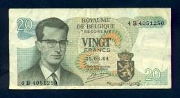 Banconota Belgio 20 Franchi/Twintic Frank 1964 - Belgium