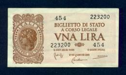 Banconota Italia Laureata 23-11-1944 BB - Italia – 1 Lira
