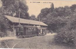 Tervueren - Arrêt Du Tram (tram, Tramway, Animée, Desaix, 1923) - Tervuren