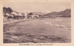 ST CYR SUR MER LA PLAGE VUE D'ENSEMBLE (dil303) - Saint-Cyr-sur-Mer