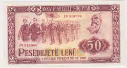 ALBANIE 50 Leke 1976 P45c AU-UNC - Albanie