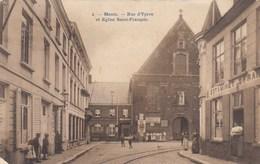 Menen, Menin, Rue D'Ypres Et Eglise Saint François (pk36762) - Menen