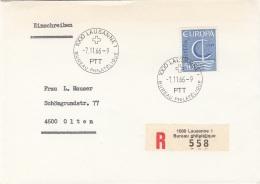 EUROPA 1966 - 50 C Auf Brief Gel.v.Lausanne N.Olten - Autres - Europe