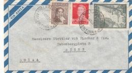 ARGENTINIEN 1959 - 3 Fach Frankierung Auf FP-Brief Gel.v.Villa Allende In Donstetten Nach Bern - Argentinien