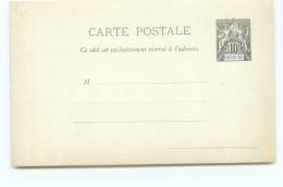 Entier  Carte Postale Groupe 10 Cent. Neuve - Nossi-Bé (1889-1901)