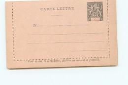 Entier  Carte-lettre  Groupe 25 Cent. Neuve - Nossi-Bé (1889-1901)