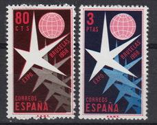 ESPAGNE SPANJE 911-12 **  MNH ; World Expo 1958 Brussels - 1931-Aujourd'hui: II. République - ....Juan Carlos I