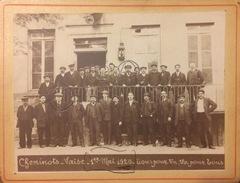 RARE ET TRES BELLE PHOTO TRES ANIMÉE LYON VAISE (RHONE-69) - TRAIN - 1920 - Lyon