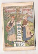 CARNET DE 8 CARTES AFFICHES DES CHEMINS DE FER DE L'OUEST Normandie Bretagne - Illustrateurs & Photographes