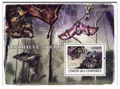 COMORES 2009 SHEET LES CHAUVES SOURIS BATS MORCEGOS MURCIELAGOS WILDLIFE WWF Cm9120b - Comoren (1975-...)