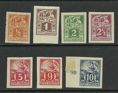 Estland Estonia 1922-1924 Michel 32 - 39 B * - Estland