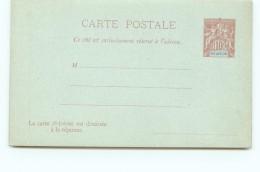 Entier  Carte-postale  Avec Réponse  Groupe 10 Cent Carmin  Neuve - Réunion (1852-1975)