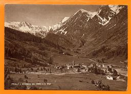 Praly. ( Prali Frazione Ghigo). Le Alpi.  Panorama. 1955 - Italy