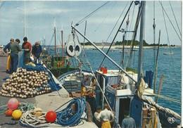 LE CROISIC  -  44  -  Bâteaux De Pêche Dans Le Port Et Perspective Vers Penbron - Le Croisic