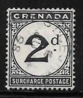 Grenada Scott # J2 Used Postage Due, 1892 - Grenada (...-1974)