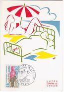 France 1970 Lutte Contre Le Cancer, Maximum Card, Paris - Cartas Máxima