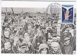 France 1970 25e Anniv. Liberation Des Camps De Deportation, Maximum Card, Strasbourg, Prisoners Prison - 1970-79