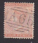 Jamaica, Scott #10, Used, Queen Victoria, Issued 1870 - Jamaïque (...-1961)