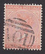 Jamaica, Scott #10a, Used, Queen Victoria, Issued 1870 - Jamaica (...-1961)