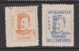 Afghanistan SG 371-372 1953 Childrens Day MNH - Afghanistan