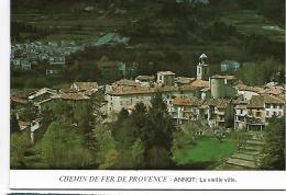 CPM - FRANCE - Chemin De Fer De Provence - ANNOT : La Vieille Ville - Trains