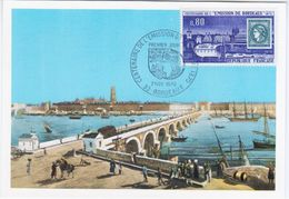 France 1970 Centenaire De L'emission De Bordeaux, Maximum Card, Bordeaux - Maximumkarten
