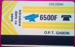 Gabon Phonecard 6500 Francs Autelca - Gabun