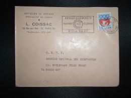 LETTRE TP BLASON DE PARIS 0,30 OBL.MEC.15-12-1966 PARIS 50 + L. COISSAC ARTICLES DE VOYAGE CABAS - Autres