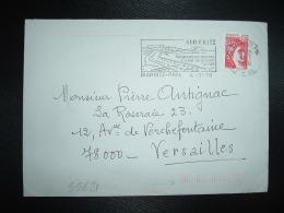 LETTRE TP SABINE 1,20 OBL.MEC.4-7-1978 BIARRITZ PPAL (64 PYRENEES ATLANTIQUES) INDEXATION BARRES ROSES + Marque à Sec 9H - Marcophilie (Lettres)
