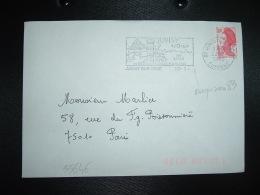LETTRE TP LIBERTE DE GANDON 1,80 OBL.MEC. VARIETE 22-2-1983 JUVISY SUR ORGE ESSONNE (91) - Marcophilie (Lettres)