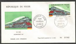 Niger 1975 317 FDC Locomotives 5003 1937 Allemagne - Niger (1960-...)