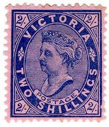 (I.B) Australia Postal : Victoria 2/- Blue On Rose - Sin Clasificación
