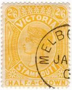(I.B) Australia - Victoria Revenue : Stamp Duty 2/6d (CTO Melbourne Postal) - Sin Clasificación