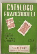 2-CATALOGO SASSONE 1958(XVII EDIZIONE)ZONA ITALIANA-PERFETTO - Italia