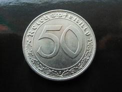 DRITTES REICH J.365 50 Pfennig 1938 A Fast Stempelglanz Prachtstück !!! - 50 Reichspfennig