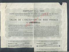 VIENNE 1900 OBLIGATION SOCIETE AUTRICHIENNE HONGROISE DES CHEMINS DE FER DE L ETAT : - Chemin De Fer & Tramway