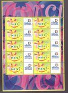France Neuf ** Bloc Feuillet De 2001 Comprenant 10 Vignettes Personnalisées N° 3433 Cote 50€ Merci Logo Timbres - Frankreich