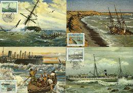 South West Africa - 1987 Shipwrecks Full Set Of 4 Maximum Cards - Südwestafrika (1923-1990)