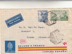 Siviglia To Bremen, Germania. Cover 1941 - 1931-50 Storia Postale