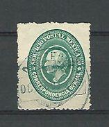 1884 N° 4 TIMBRES DE SERVICE MIGUEL HIDALGO VERT   CORRESPONDENCIA OFICIAL  OBLITÉRÉ DOS CHARNIÈRE - Messico