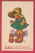 Carte Publicitaire - Le Reine Des Margarines / De Koningin Der Margarine AXA ( Voir Verso ) - Publicité