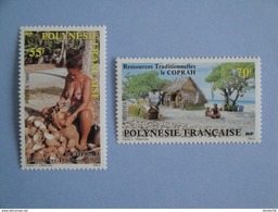 1989 Polynésie Française Yvert  326/7 **  Le Coprah Scott 505/6  Michel 525/6  SG 555/6 - Polynésie Française