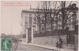 Cpa 78- Carrières-sous-bois- La Châtaigneraie Et Rue St-germain (circulé Voir Scan Recto-verso) - Autres Communes