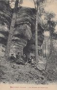 CARTE POSTALE ORIGINALE ANCIENNE : BRUYERES LES ROCHE DE POINTHAIE ANIMEE  VOSGES (88) - Bruyeres