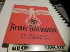 MINI-LIVRE / ARMEE ALLEMANDE / UNIFORMES SIGNES DISTINCTIFS. - Books, Magazines, Comics