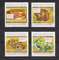 Guinee China Year Of Snake 4v Set Michel:7811,812,814,815 14 - Isole Comore (1975-...)