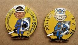 Lot De 2 Pin's  Police - Police