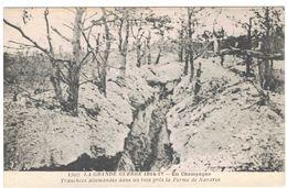 LA GRANDE GUERRE 1914 17 EN CHAMPAGNE TRANCHEES ALLEMANDES PRES FERME  DE NAVARIN  ******     A    SAISIR ****** - Autres Communes