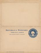 MEXICO -  Letter Card With Reply Letter Card , Tarjeta Carta  Con Respuesta Pagada - Mexico