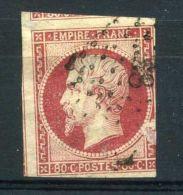 FRANCE ( POSTE ) : Y&T N°  17 B TIMBRE  OBLITERE , A  VOIR . - 1853-1860 Napoléon III